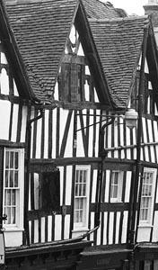 black and white buildings shrewsbury