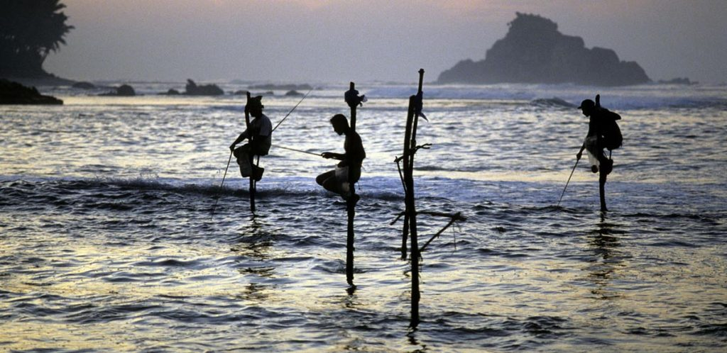 Photography Courses and Workshops shopping cart - pole fishermen Sri Lanka at dawn