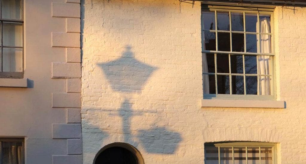 shadows on old buildings, Shrewsbury
