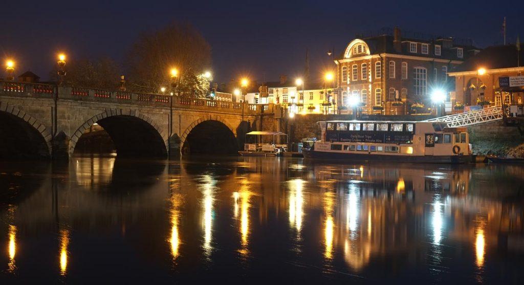 night photography in Shrewsbury. Welsh Bridge, Philip Dunn