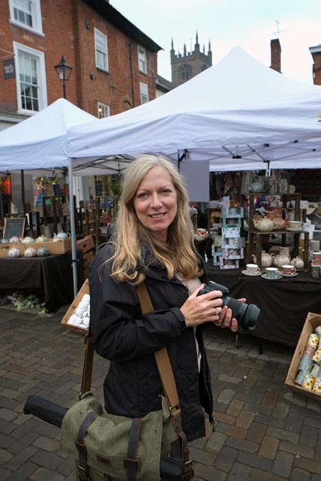one-to-one photography course in Ludlow - lady student on photo course