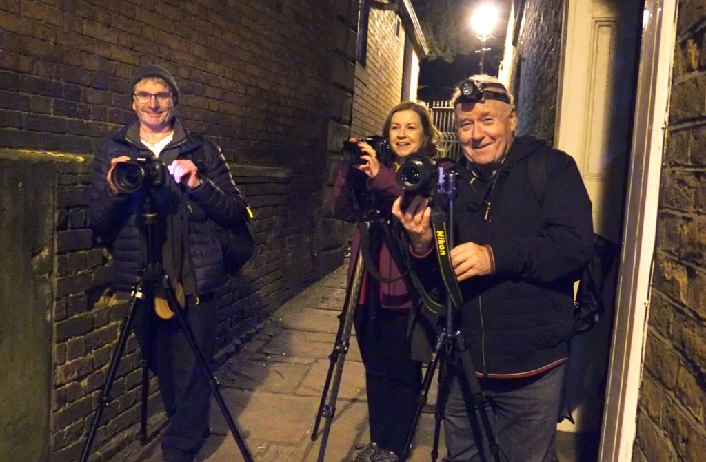night photography workshops students