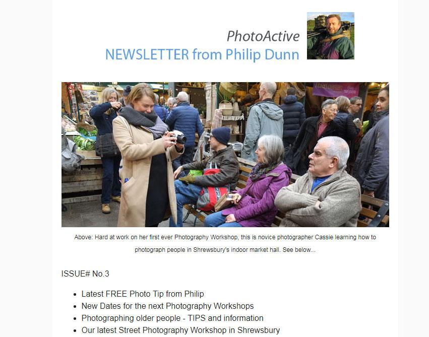 Philip Dunn's PhotoActive Newsletter