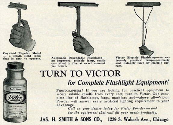 old newspaper advert for flash equipment