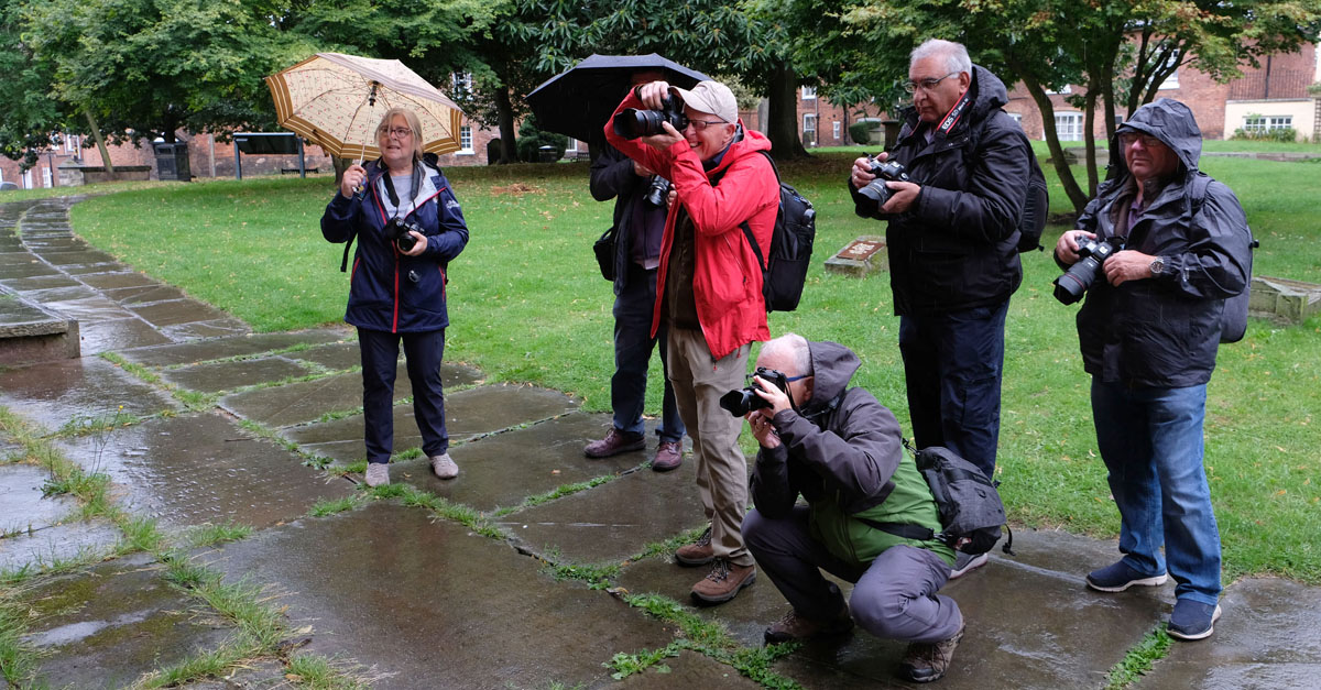Photography Workshop in the rain